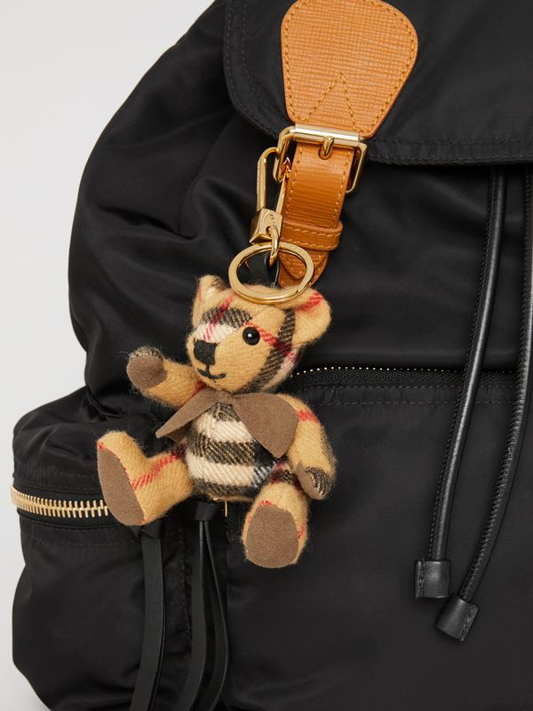 Thomas Bear Charm in Vintage Check Cashmere in Antique Yellow | Burberry Singapore - cell image 3