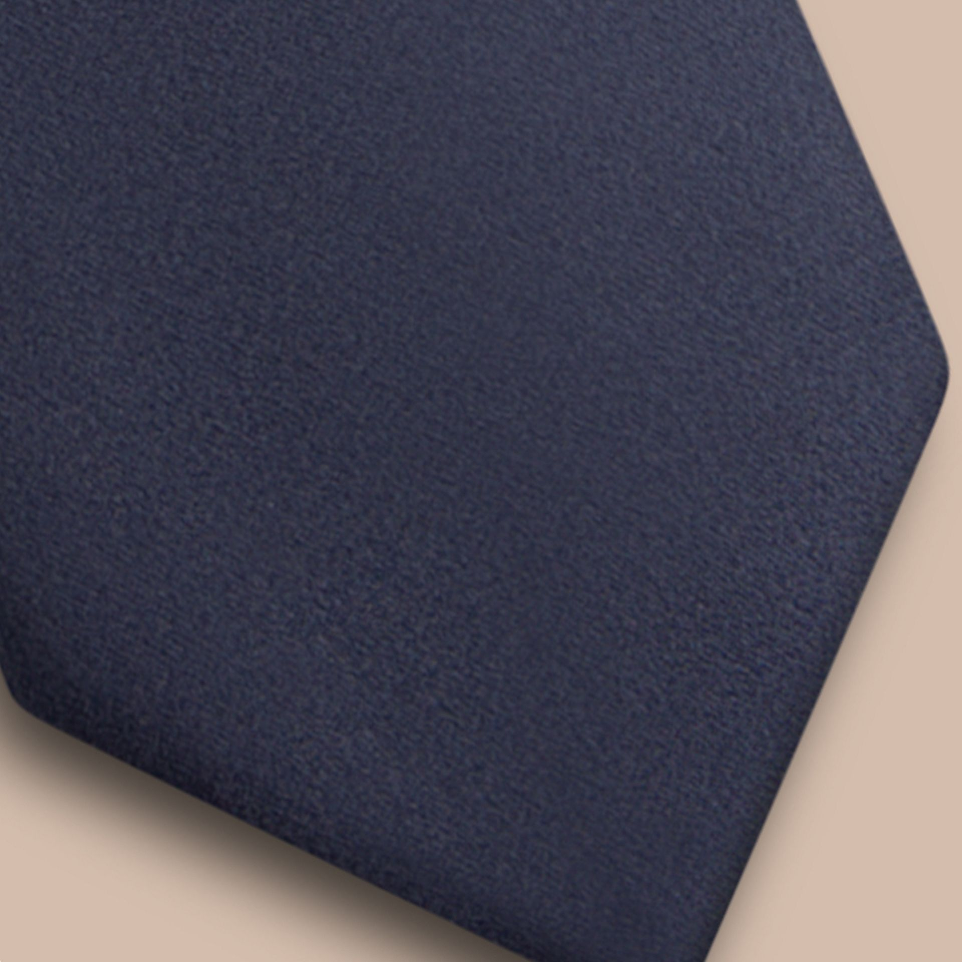 Black ink Modern Cut Silk Tie - gallery image 3