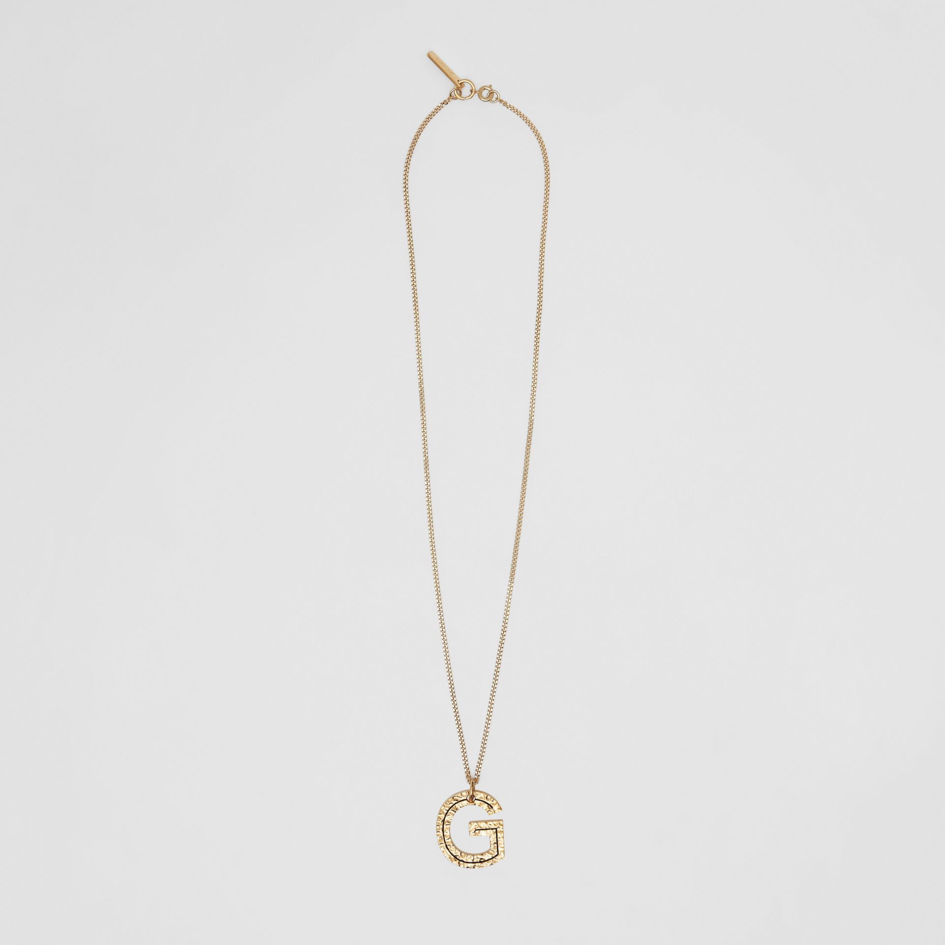 'G' Alphabet Charm Gold-plated Necklace in Light - Women | Burberry United Kingdom - gallery image 0