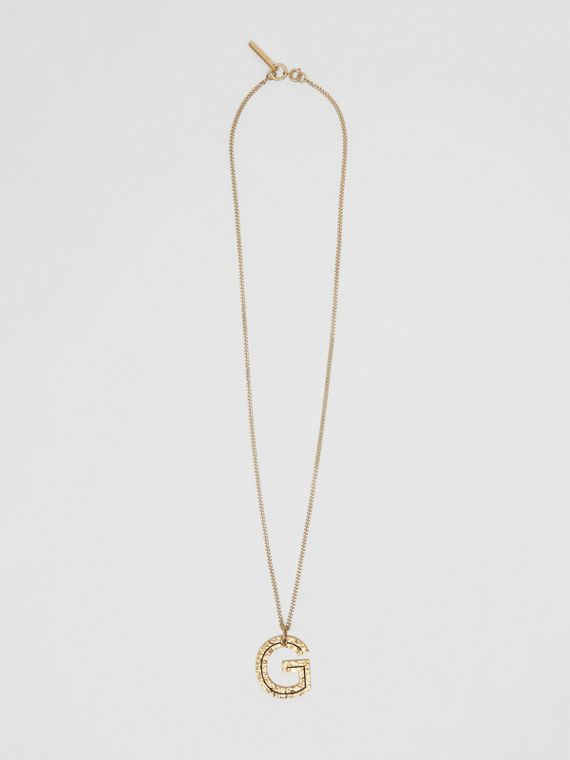 'G' Alphabet Charm Gold-plated Necklace in Light