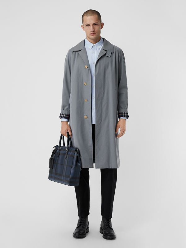 Pasta executiva com estampa London Check grande (Azul Marinho/preto) - Homens | Burberry - cell image 2