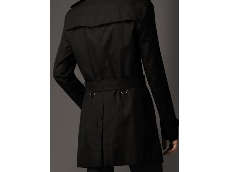 Cotton Gabardine Trench Coat in Jet Black - Men | Burberry - cell image 1
