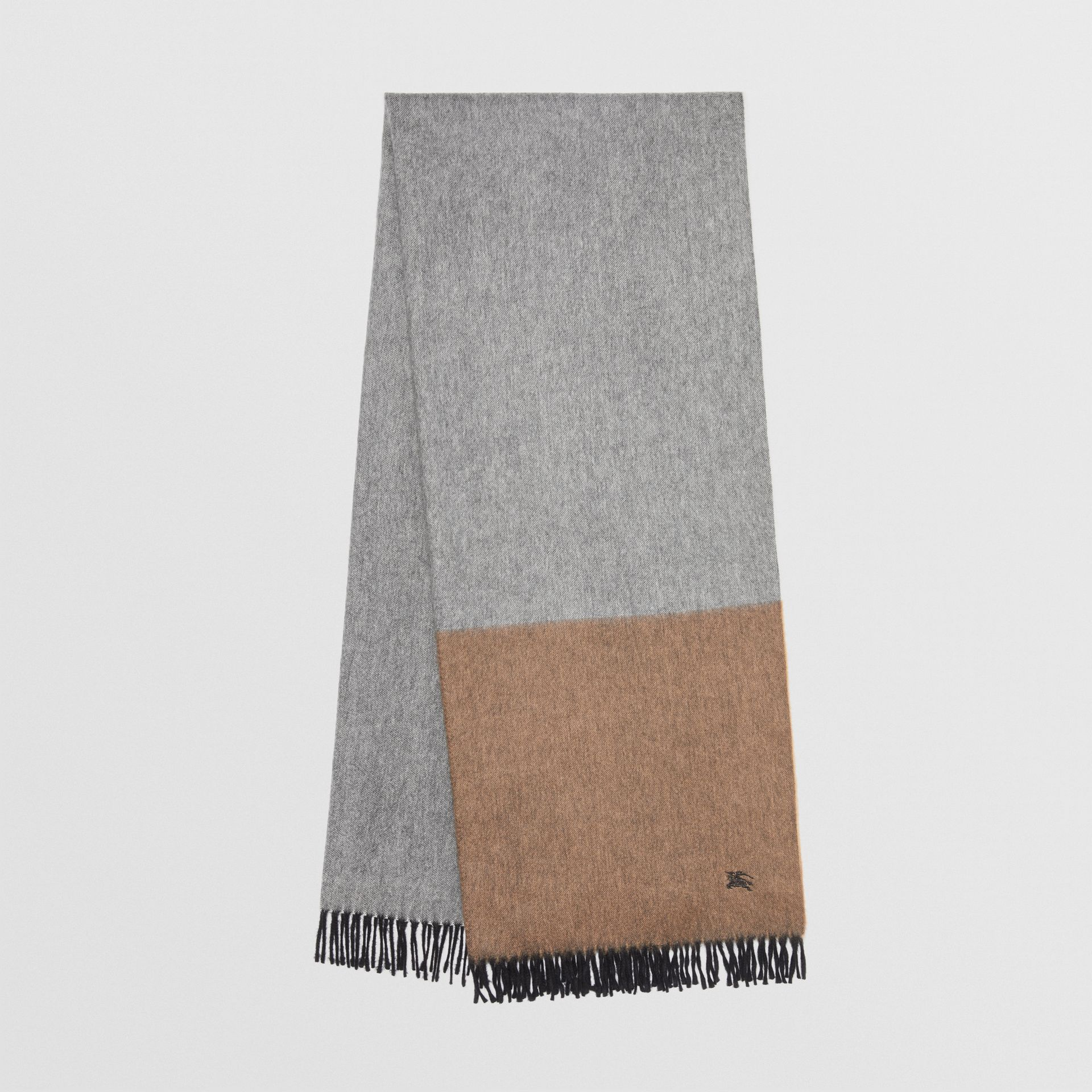 Colour Block Cashmere Scarf in Ivory | Burberry - gallery image 0