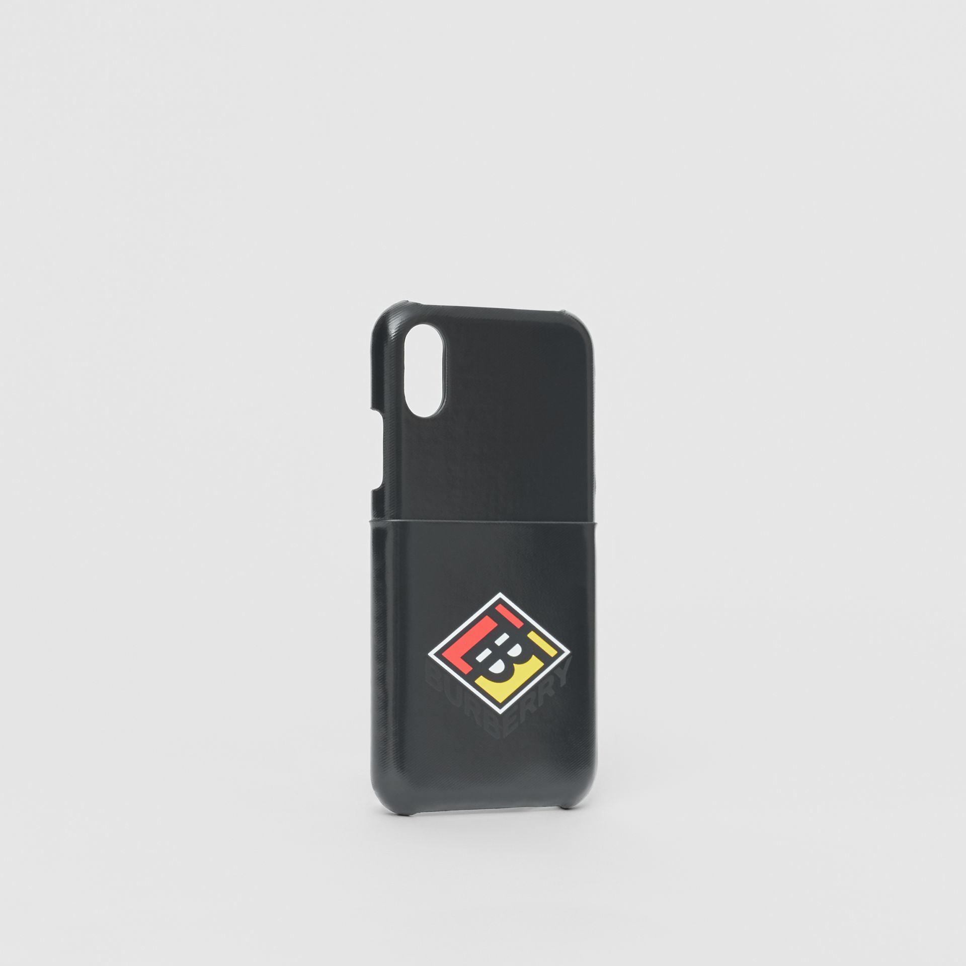 Logo Graphic Canvas iPhone X/XS Case in Black | Burberry - gallery image 2