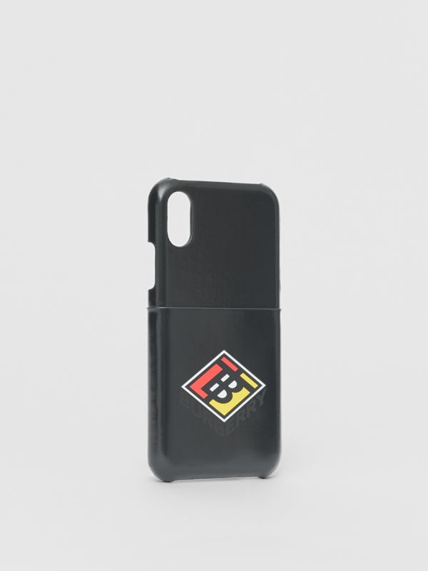 Logo Graphic Canvas iPhone X/XS Case in Black | Burberry Hong Kong S.A.R - cell image 2