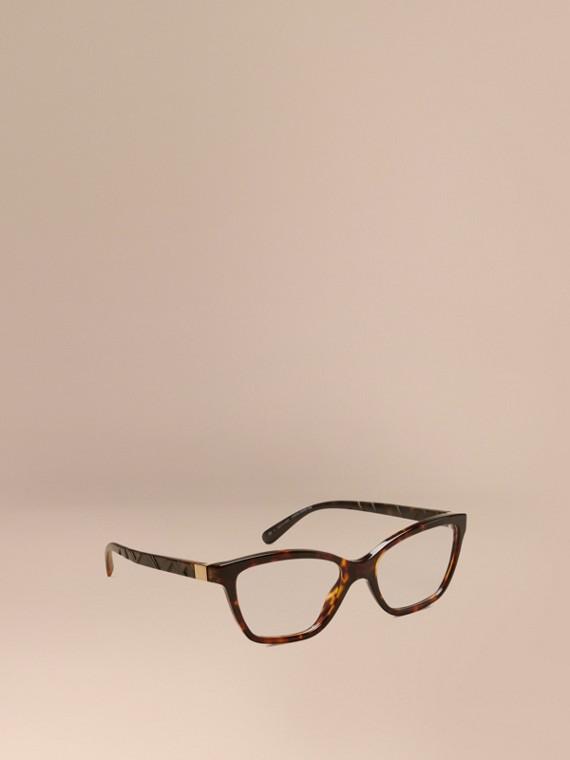 Check Detail Cat-eye Optical Frames Tortoiseshell