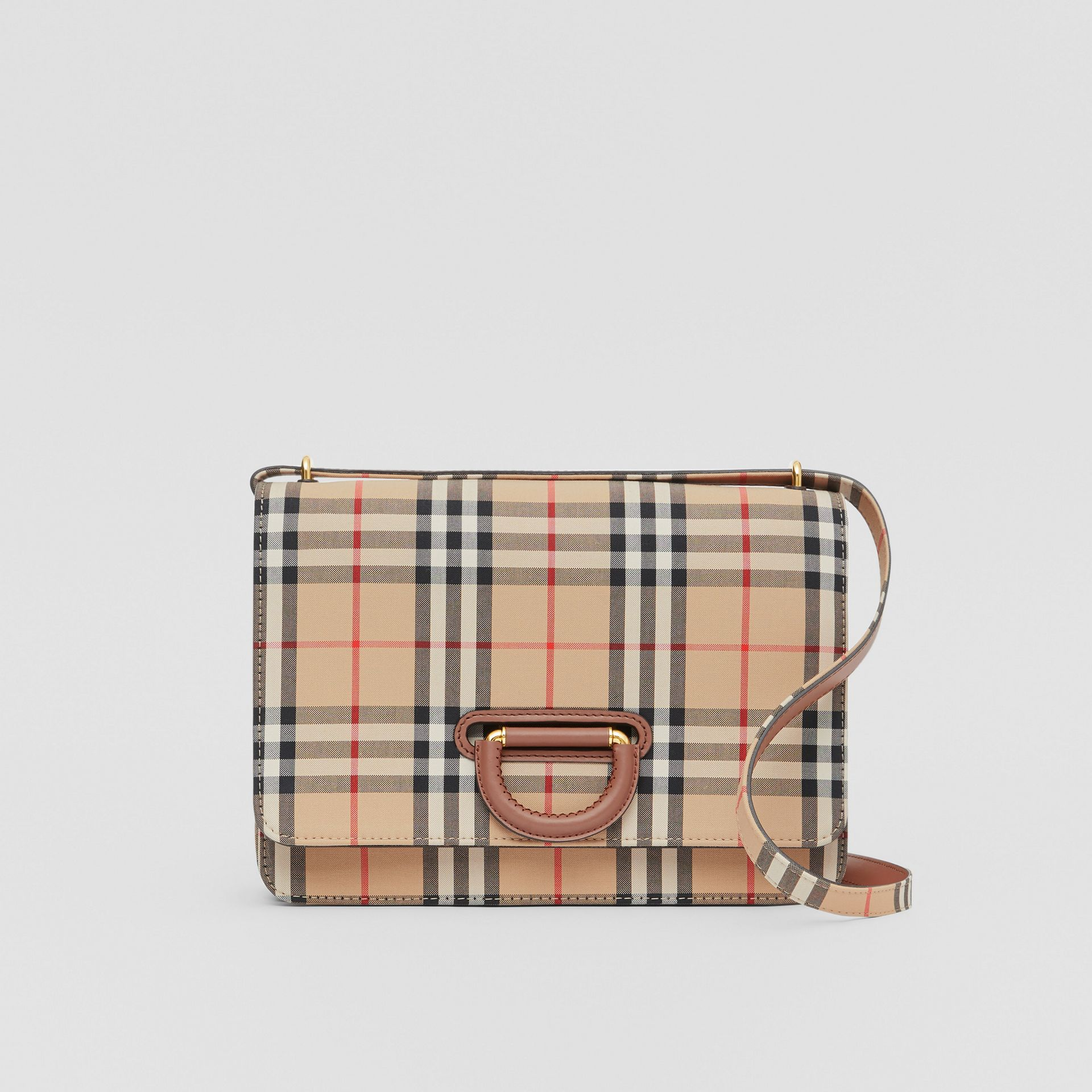 The Medium Vintage Check D-ring Bag in Archive Beige - Women | Burberry - gallery image 0