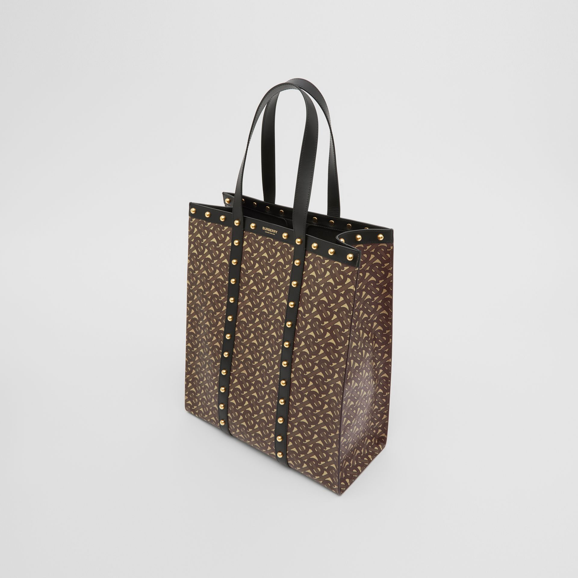 Monogram Print E-canvas Portrait Tote Bag in Black | Burberry Hong Kong S.A.R - gallery image 4