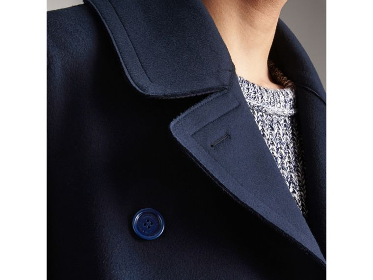 Resin Button Wool Pea Coat in Military Navy - Men | Burberry - cell image 1