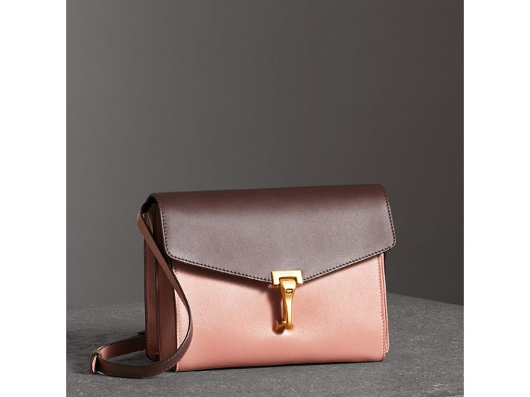 Two-tone Leather Crossbody Bag in Dusty Rose/deep Claret - Women | Burberry - cell image 4