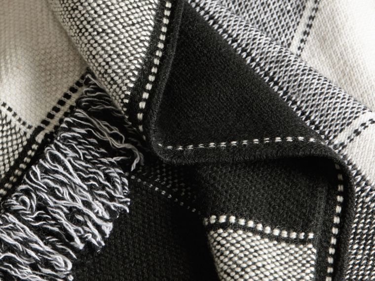Black/white Check Wool Cashmere Knit Coat - cell image 1
