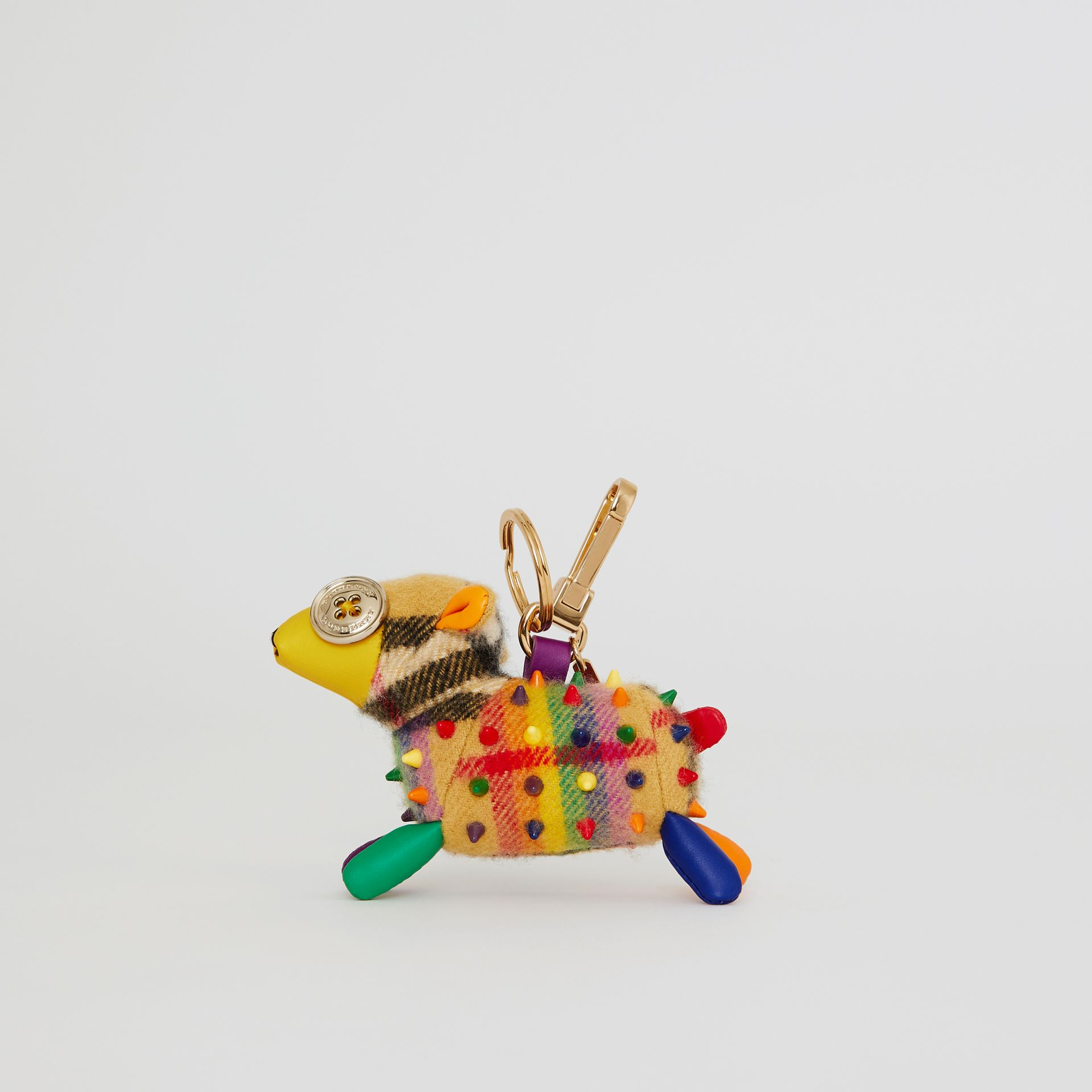Wendy The Sheep Rainbow Vintage Check Charm in Multicolour/antique Yellow | Burberry Australia - gallery image 4