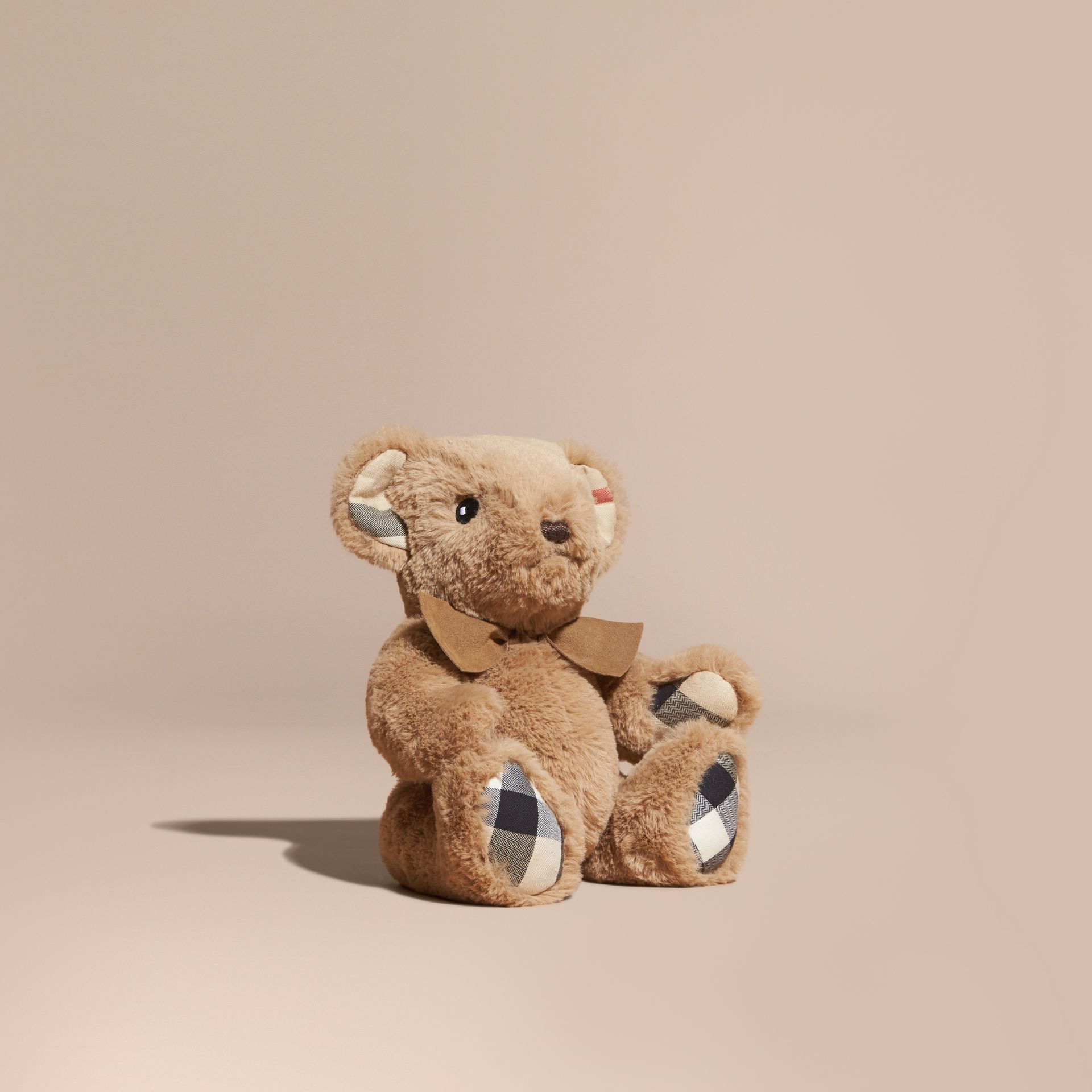 Thomas Baby Bear with Check Detail in Camel | Burberry - gallery image 1