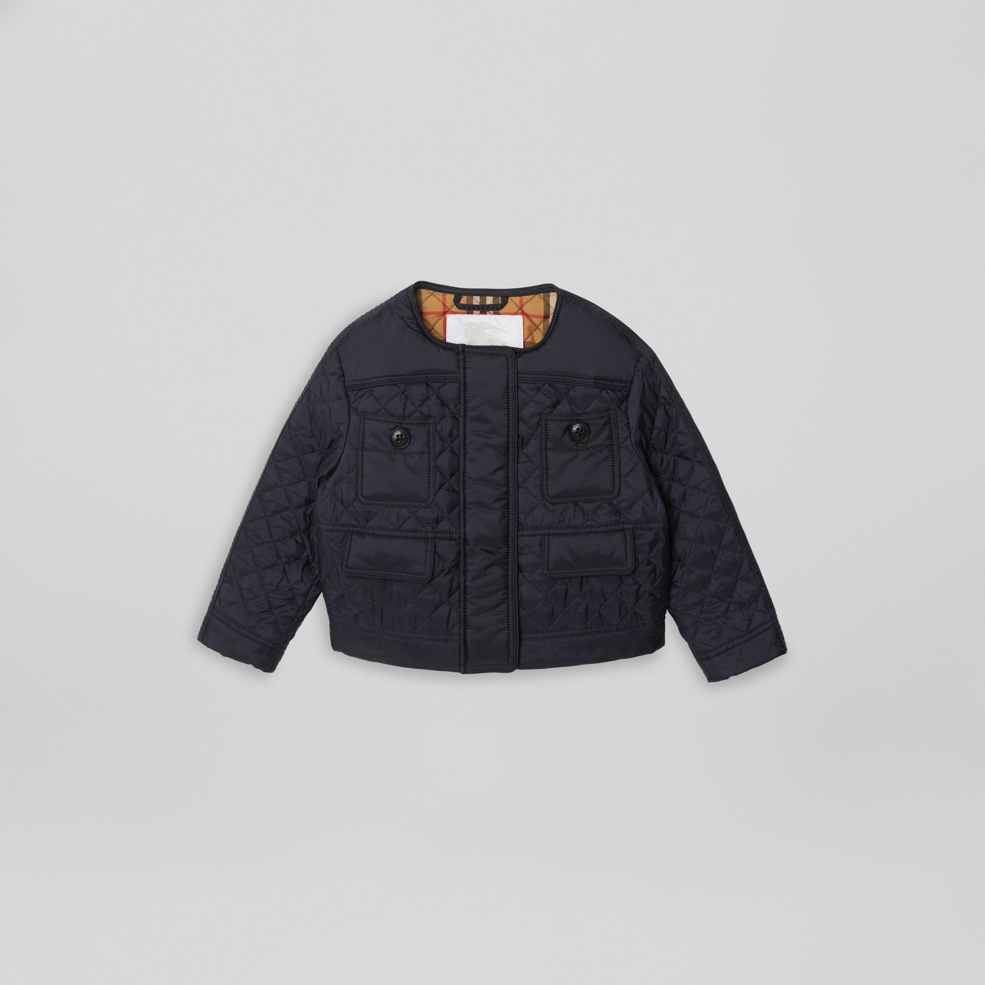 Lightweight Diamond Quilted Jacket in Navy | Burberry - gallery image 0