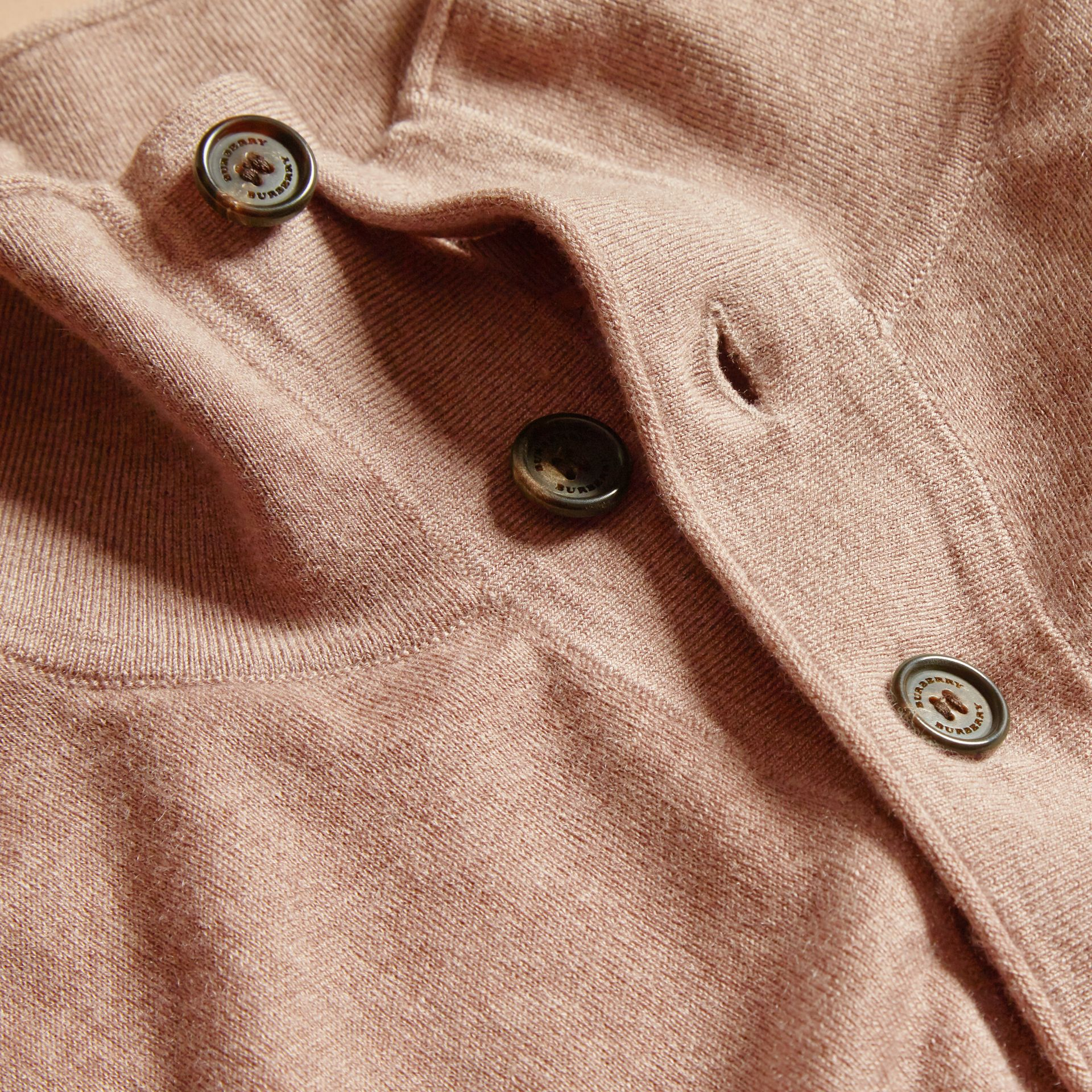 Stone Funnel Neck Cashmere Silk Sweater - gallery image 2