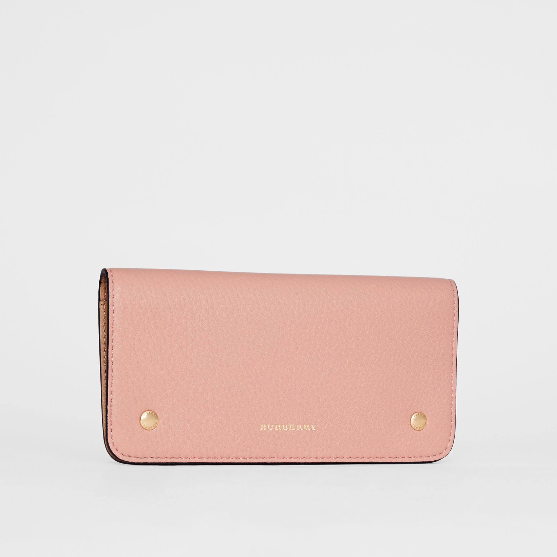 Leather Phone Wallet in Ash Rose - Women | Burberry United States - gallery image 4