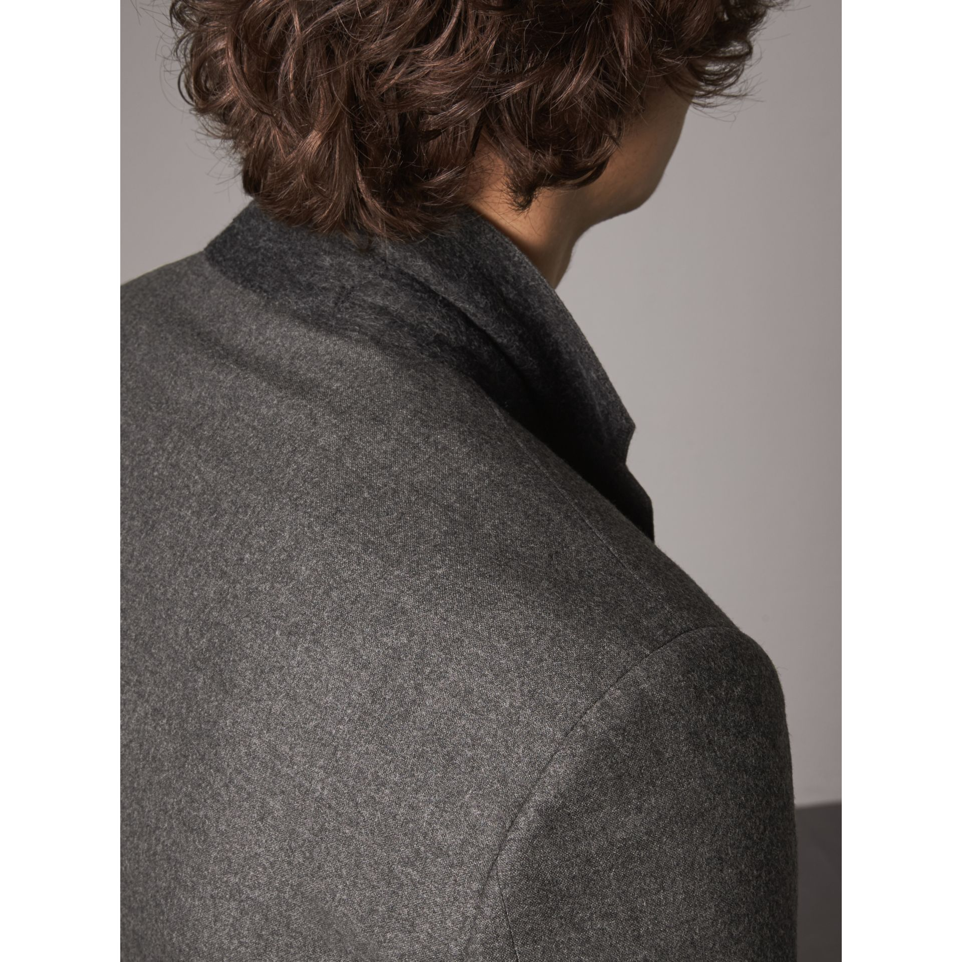 Soho Fit Wool Flannel Suit in Dark Charcoal Melange - Men | Burberry Canada - gallery image 6