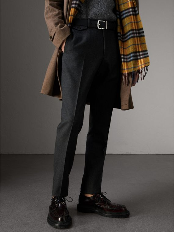 Reversible London Check and Leather Belt in Black - Men | Burberry - cell image 3