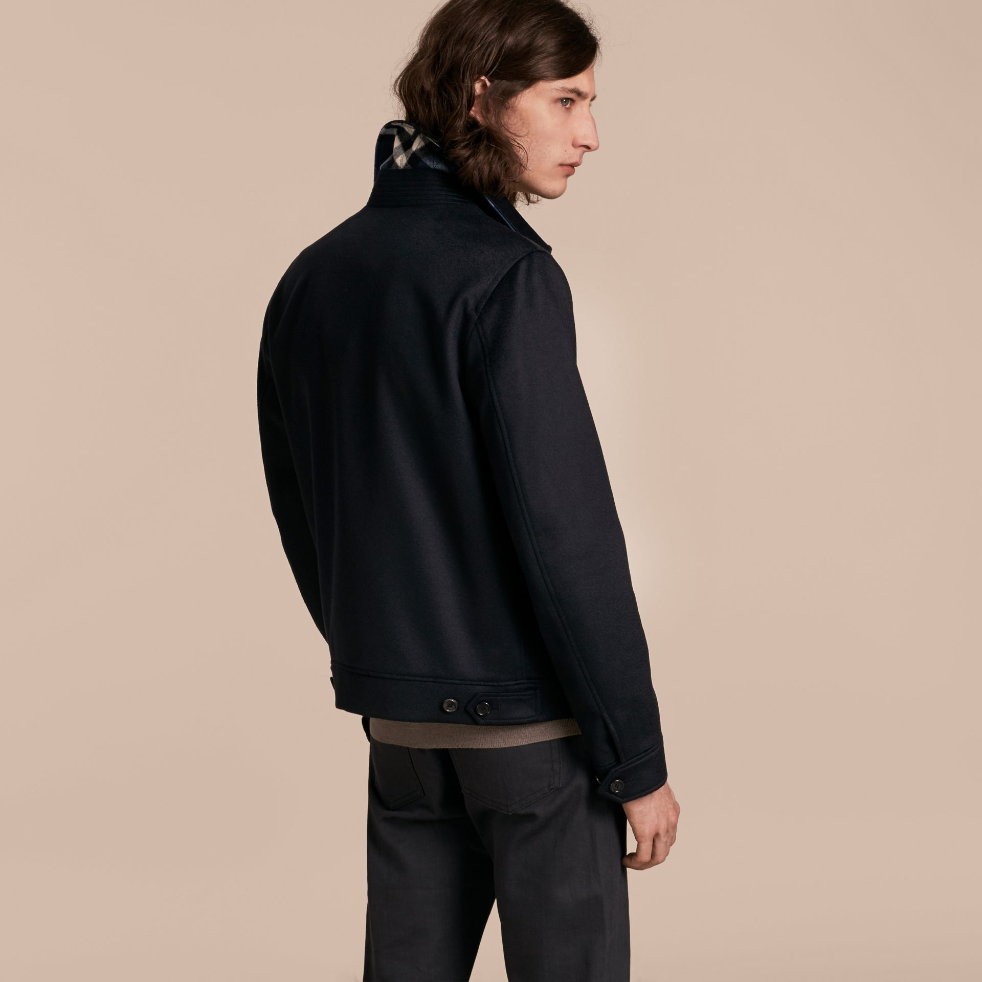 Navy Cashmere Jacket - gallery image 3