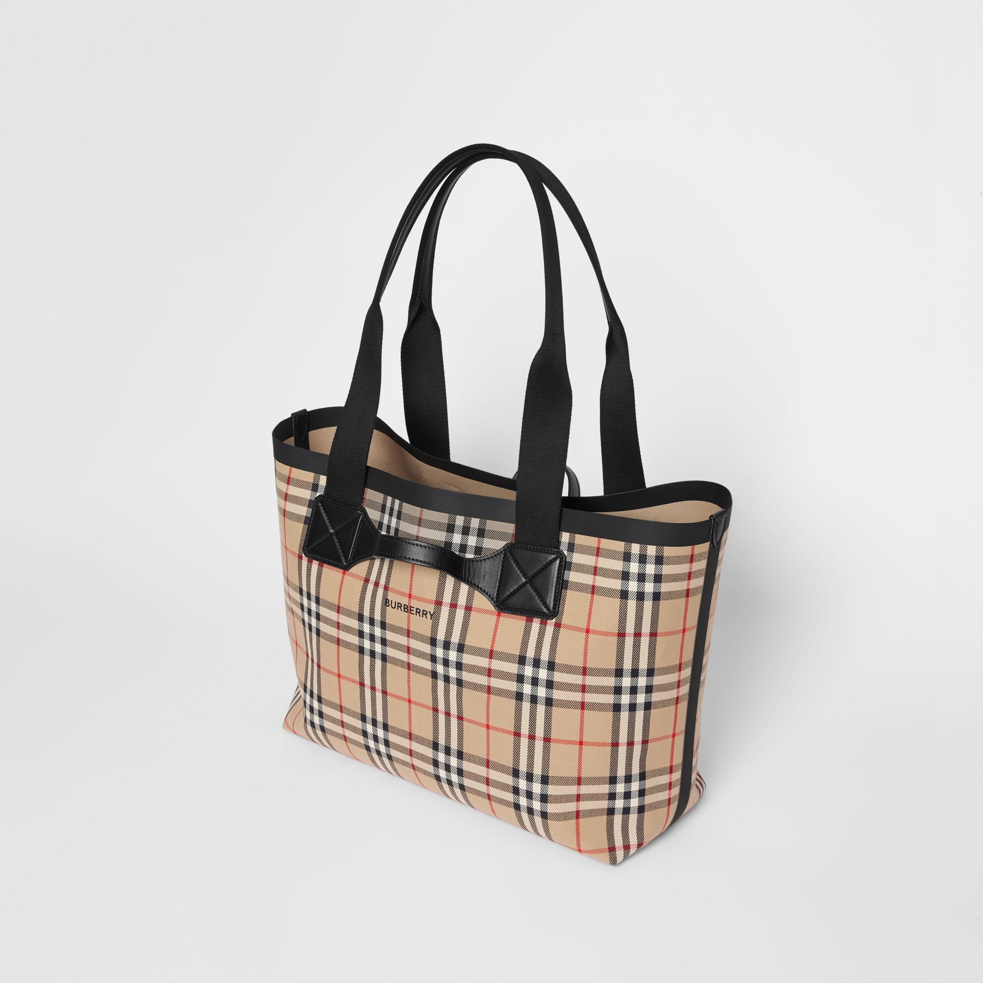 Medium Vintage Check Austen Tote in Archive Beige - Women | Burberry - gallery image 3
