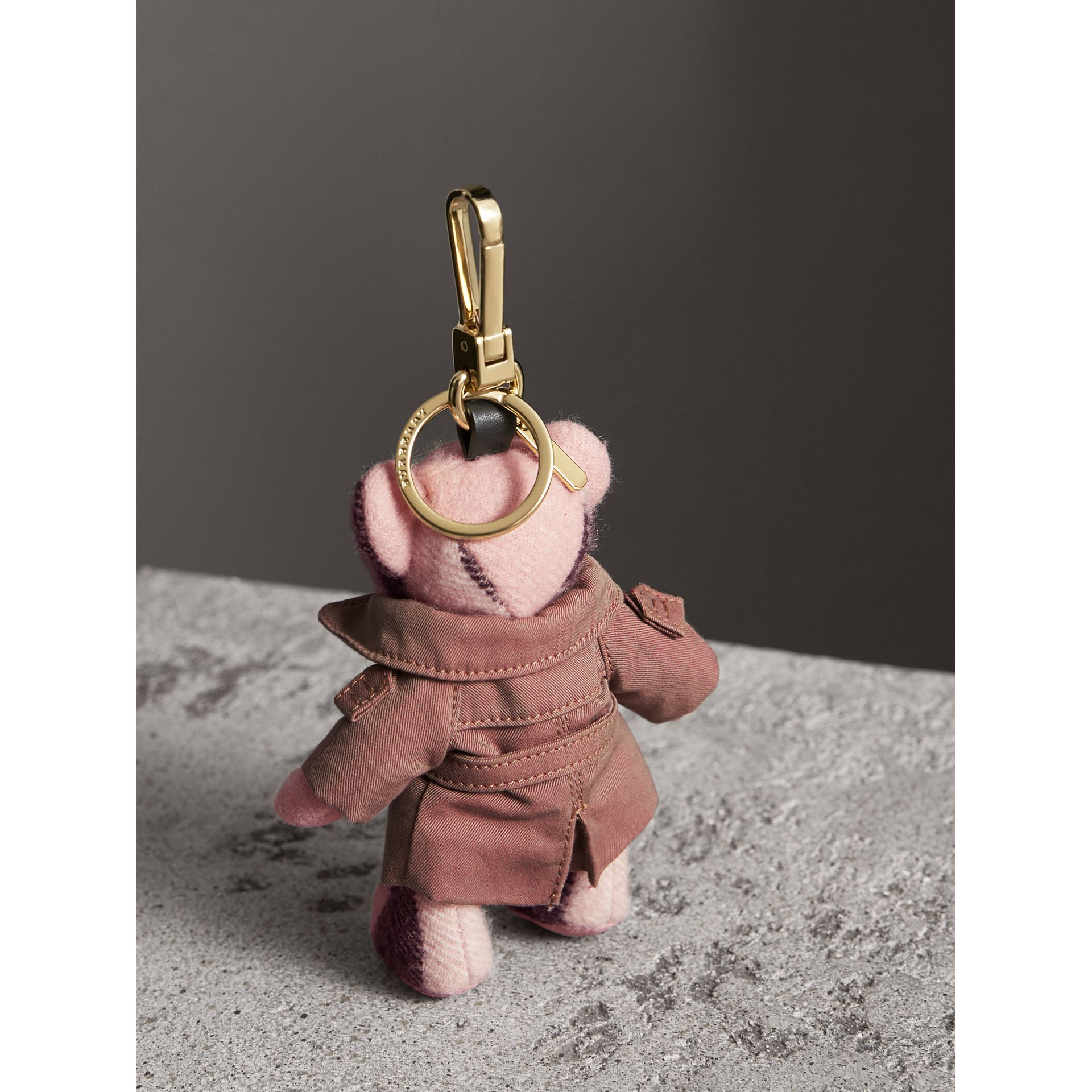 Thomas Bear Charm with Tropical Gabardine Trench Coat in Ash Rose - Women | Burberry United States - gallery image 4