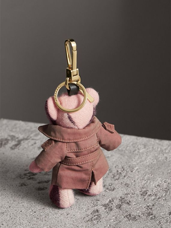 Thomas Bear Charm with Tropical Gabardine Trench Coat in Ash Rose - Women | Burberry United States - cell image 3