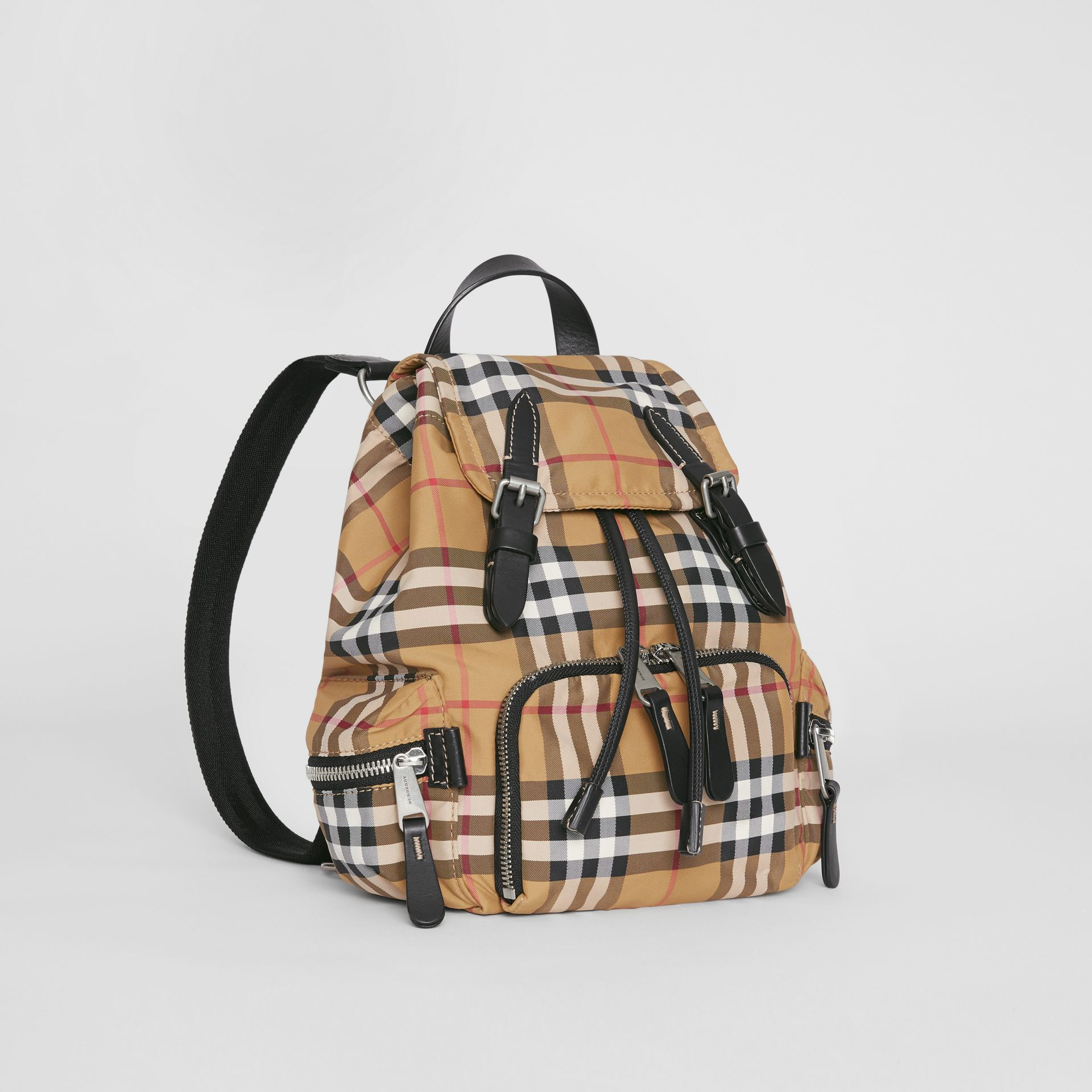 The Small Crossbody Rucksack in Vintage Check in Antique Yellow - Women | Burberry Australia - gallery image 5
