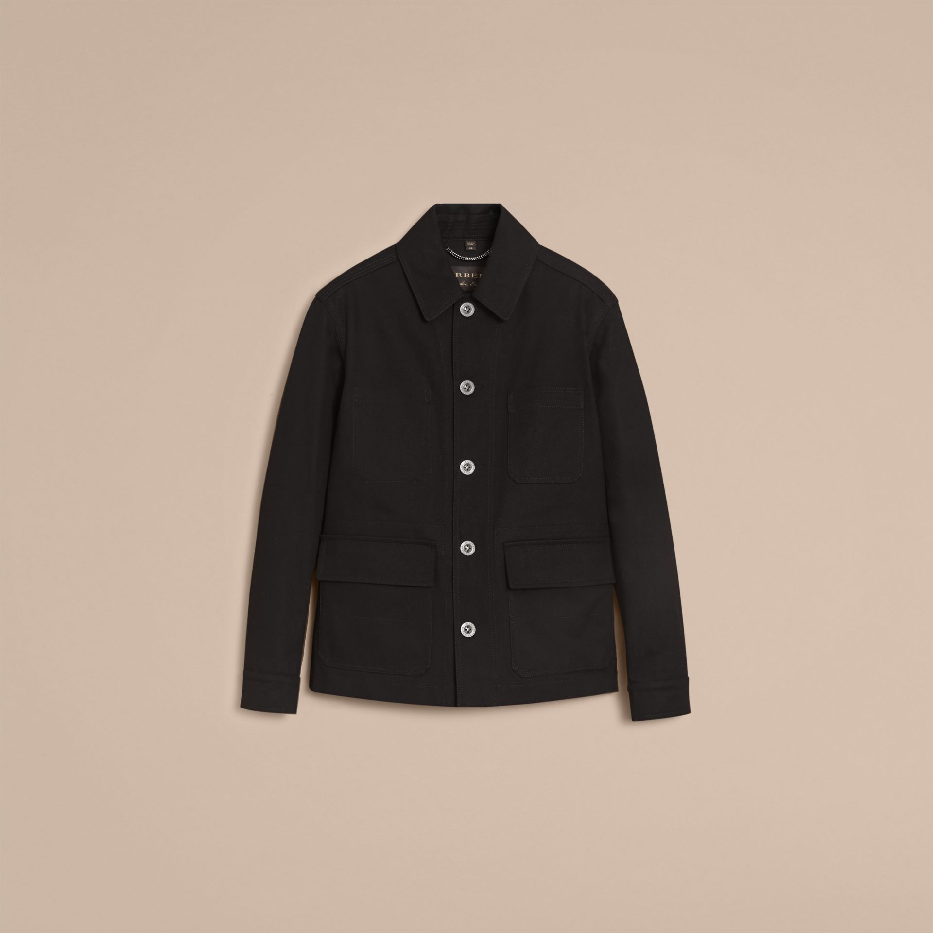 Pallas Helmet Motif Cotton Workwear Jacket - gallery image 4
