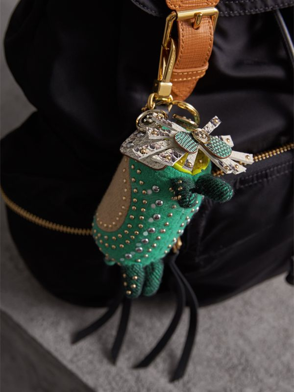 Trevor The Scottie Dog Cashmere Charm in Green Multi | Burberry United Kingdom - cell image 2