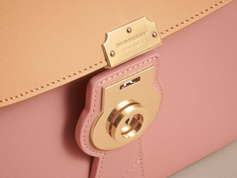 The Medium DK88 Top Handle Bag in Ash Rose/pale Clementine - Women | Burberry Australia - cell image 1