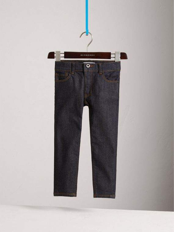 Skinny Fit Stretch Jeans in Dark Indigo - Boy | Burberry - cell image 2