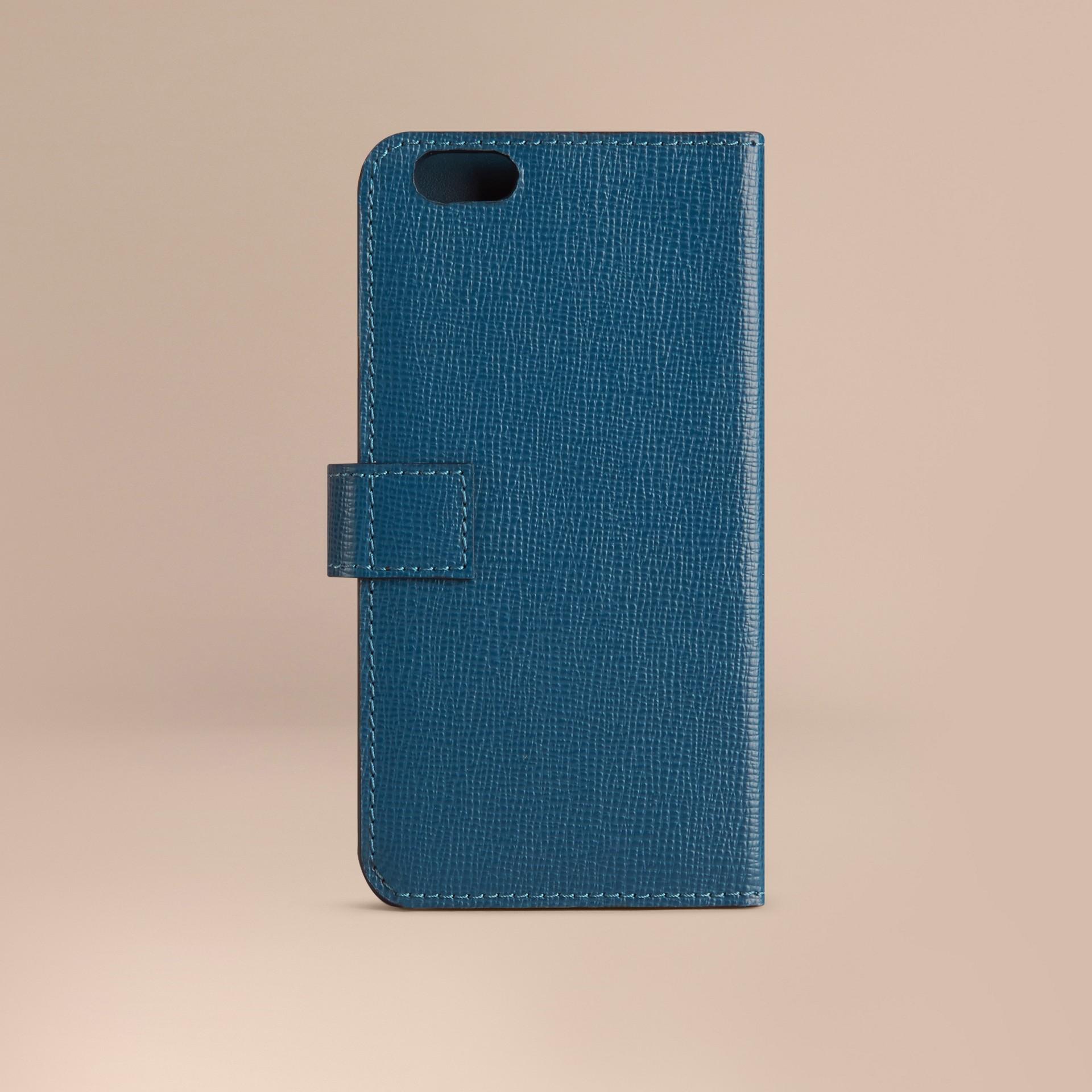 Blu minerale Custodia a libro in pelle London per iPhone 6 Blu Minerale - immagine della galleria 3