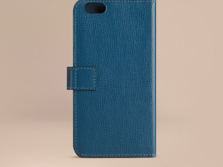 ミネラルブルー ロンドンレザーiPhone 6フリップケース ミネラルブルー - cell image 2