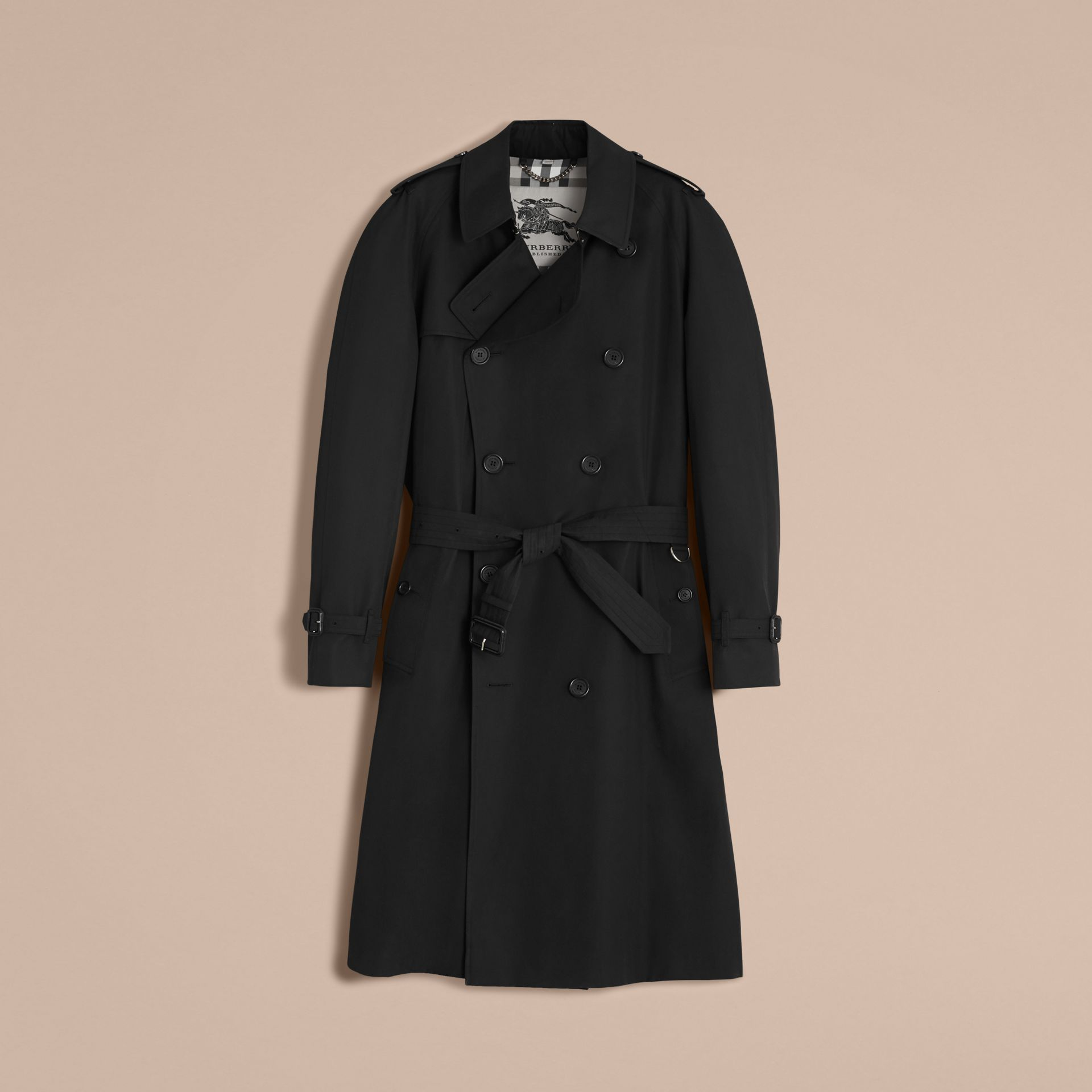 The Westminster – Long Heritage Trench Coat in Black - Men | Burberry - gallery image 4