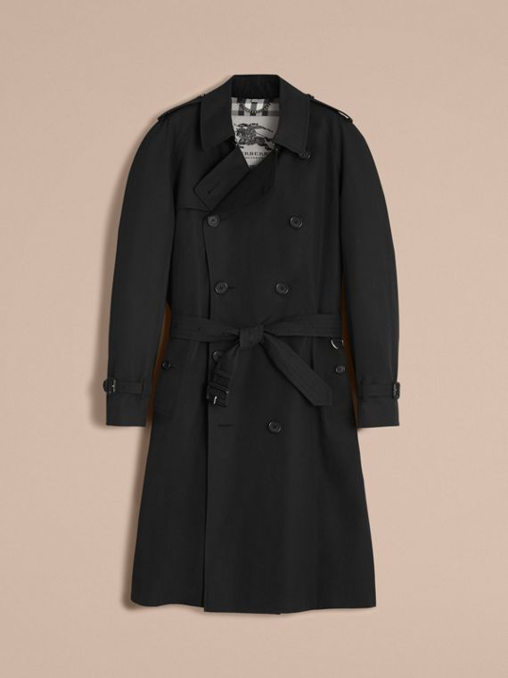 The Westminster – Langer Heritage-Trenchcoat (Schwarz) - cell image 3
