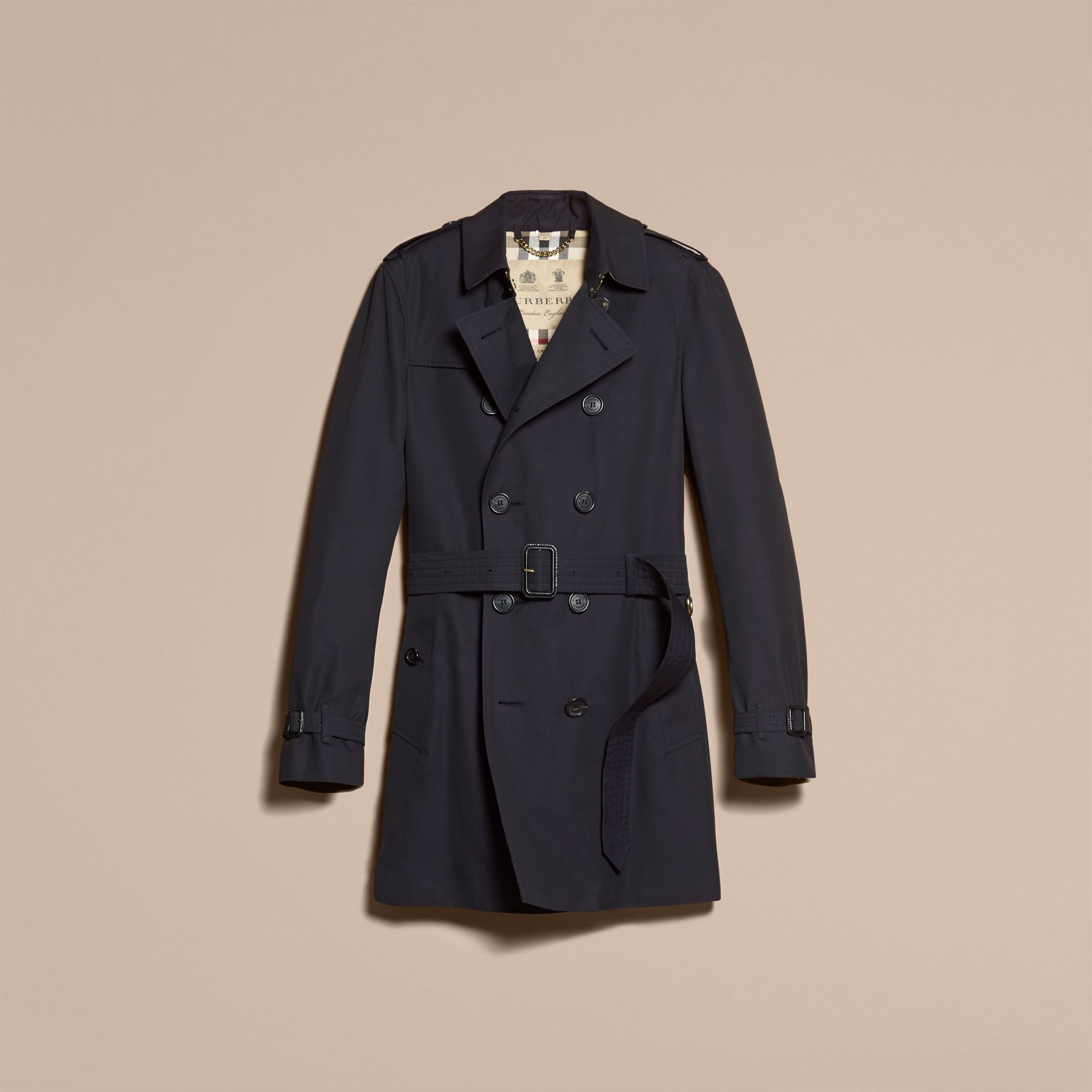 Navy The Chelsea – Mid-length Heritage Trench Coat Navy - gallery image 4