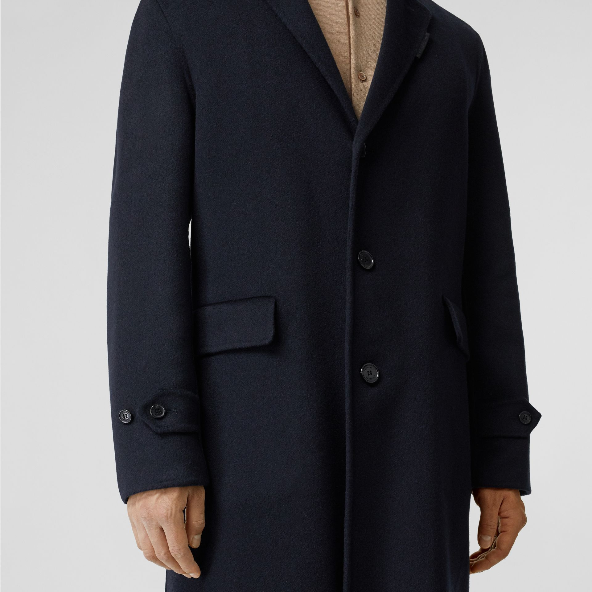 Cashmere Lab Coat in Navy - Men | Burberry Australia - gallery image 4