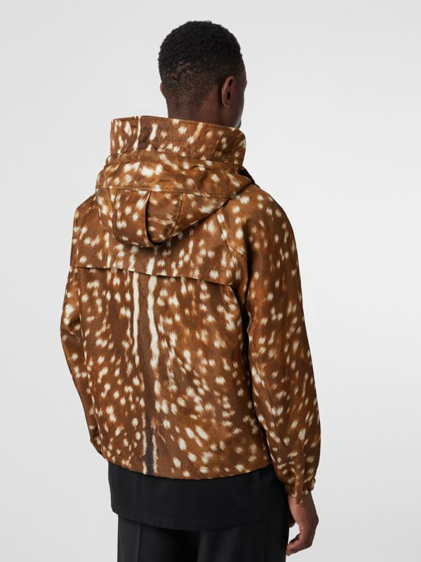 Deer Print Nylon Hooded Jacket in Honey - Men | Burberry Australia - cell image 2
