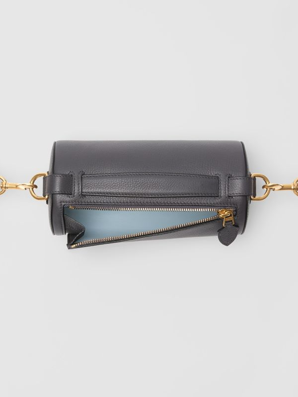 The Leather Barrel Bag in Charcoal Grey - Women | Burberry - cell image 3