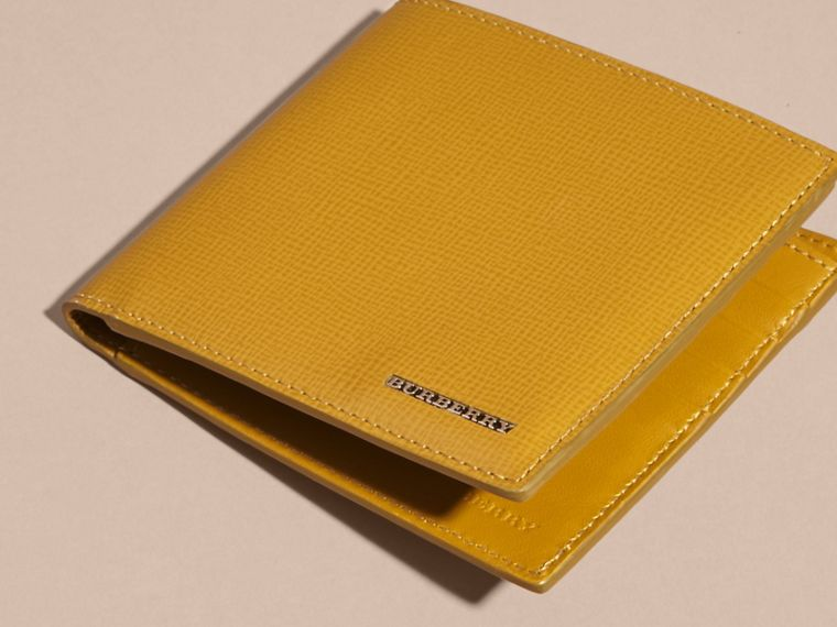 London Leather Folding Wallet Larch Yellow - cell image 4
