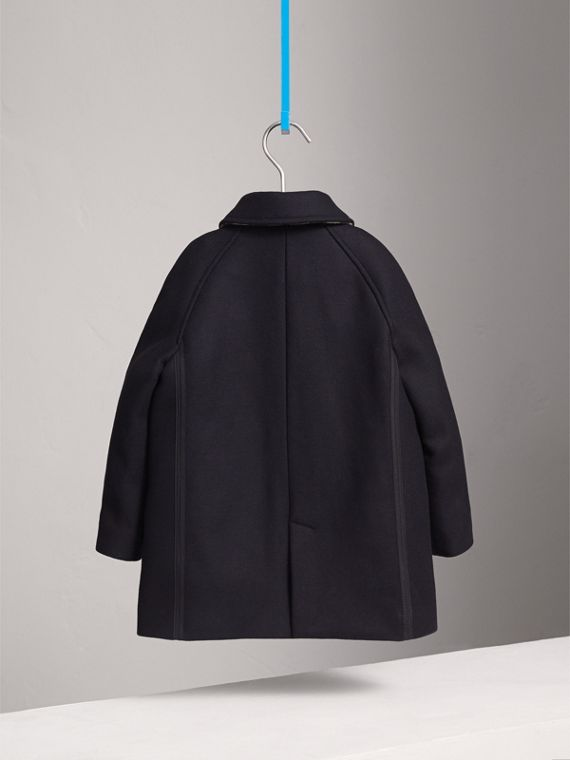 Wool Cashmere Blend Car Coat in Navy - Boy | Burberry - cell image 3