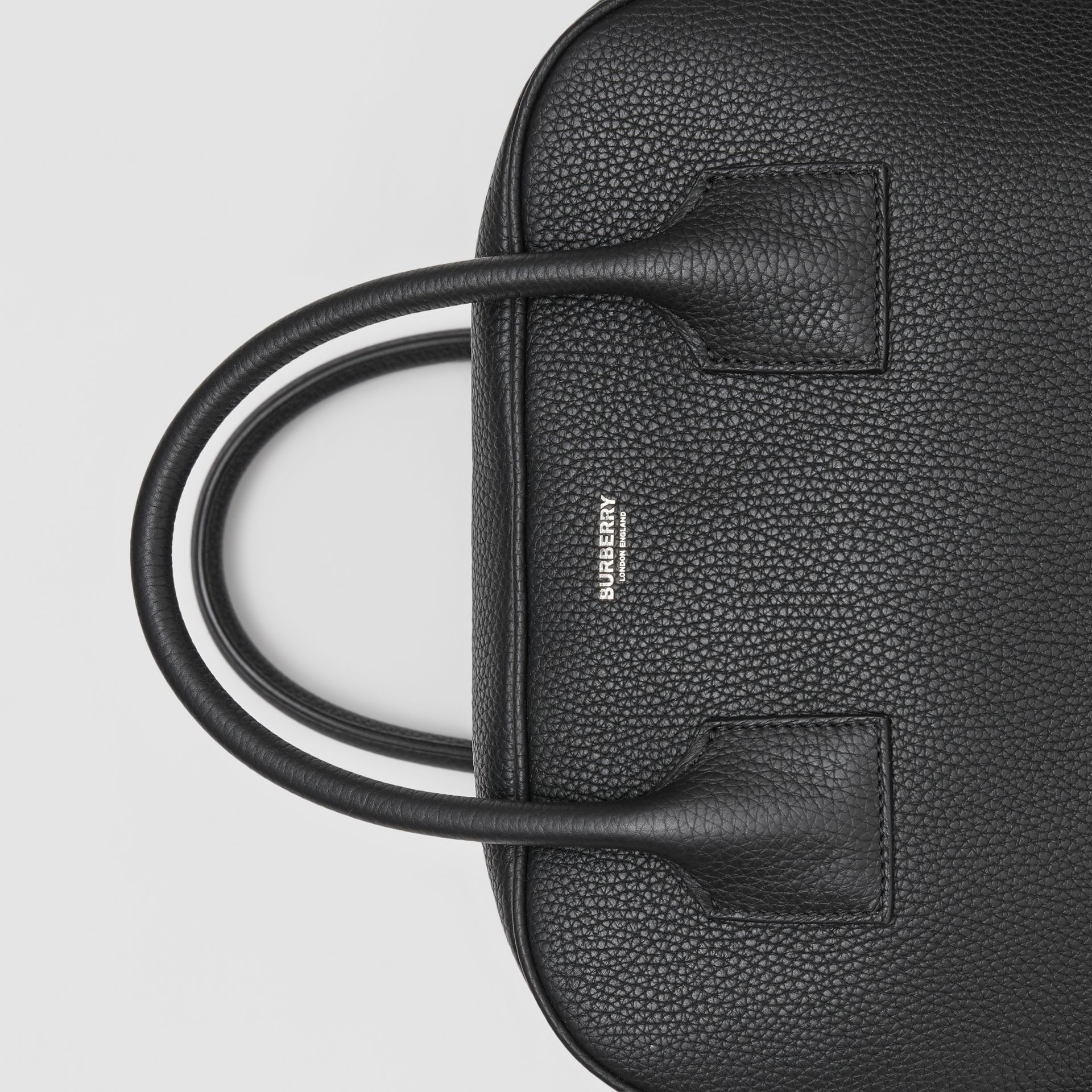 Medium Leather Cube Bag in Black - Women | Burberry Australia - gallery image 1