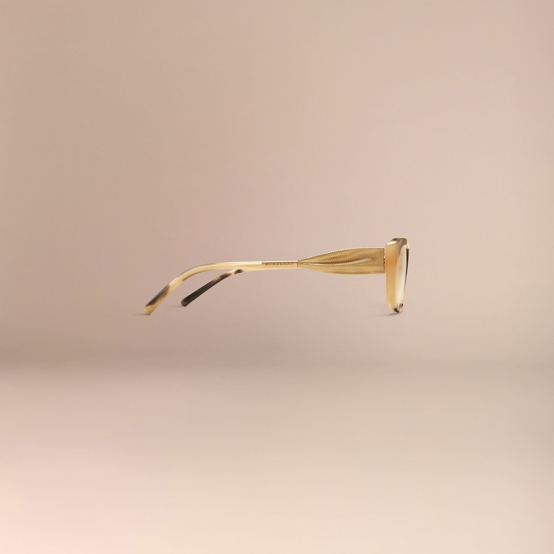 Light horn Gabardine Collection Oval Optical Frames - gallery image 5