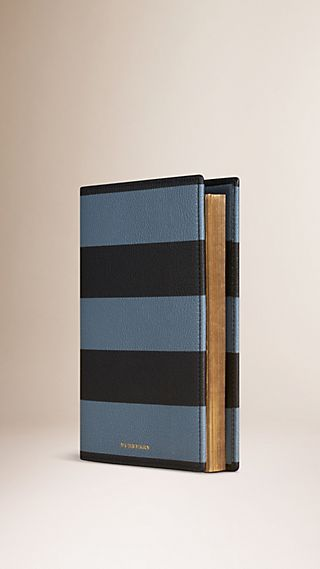 Striped Grainy Leather 2016 A5 Diary