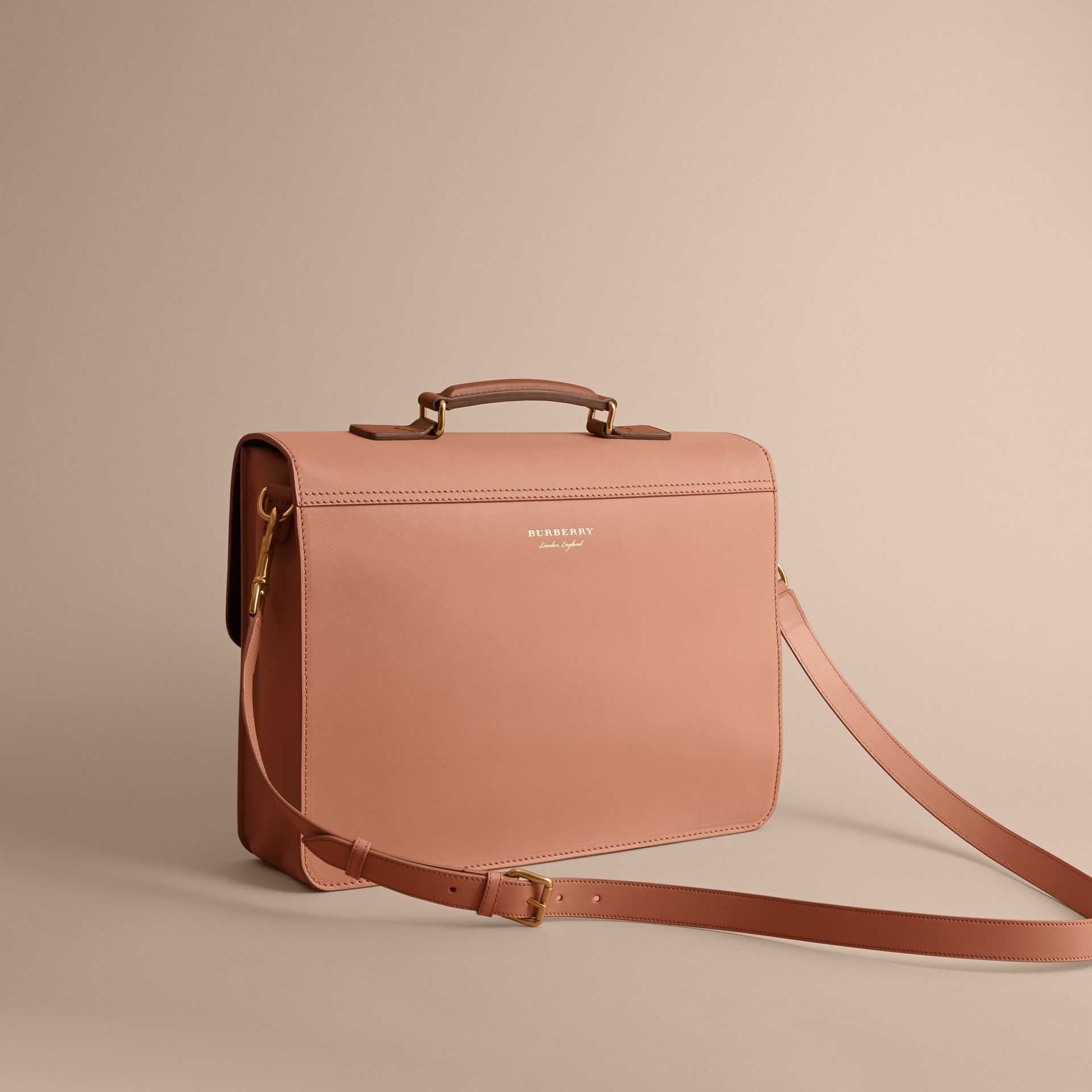 The Medium DK88 Satchel in Pale Clementine - Men | Burberry - gallery image 4