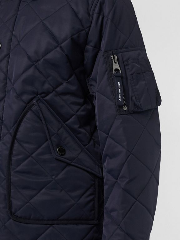 Diamond Quilted Jacket in Navy - Men | Burberry United Kingdom - cell image 1