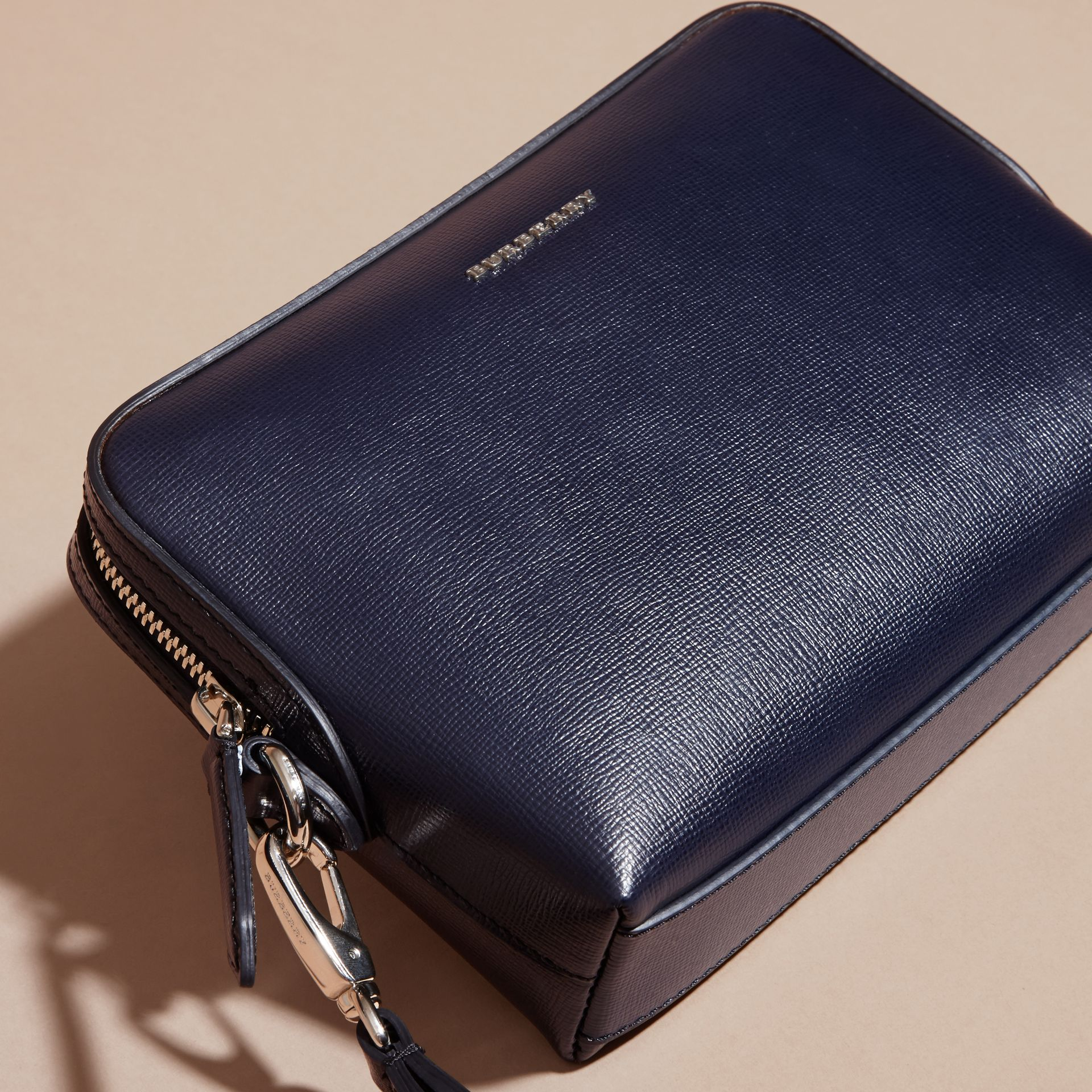London Leather Pouch in Dark Navy - Men | Burberry Australia - gallery image 3