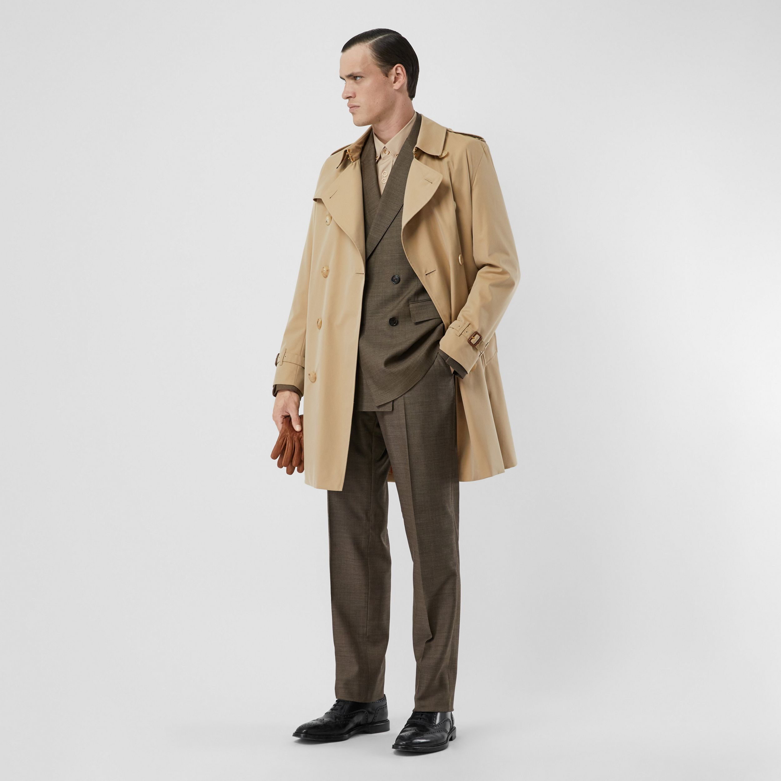 Trench coat Heritage The Kensington medio (Miele) - Uomo | Burberry - 1