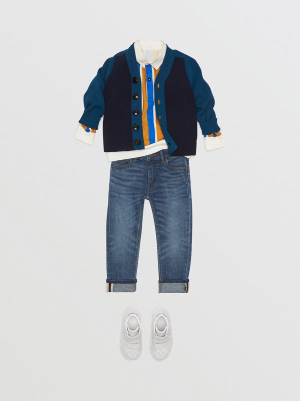 Skinny Fit Stretch Jeans in Mid Indigo - Children | Burberry - cell image 2