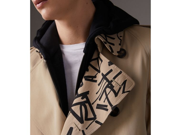 Burberry x Kris Wu Gabardine Trench Coat in Honey - Men | Burberry - cell image 4